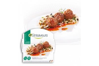 Proteïne Kofta gehaktballen met rijst en aubergines