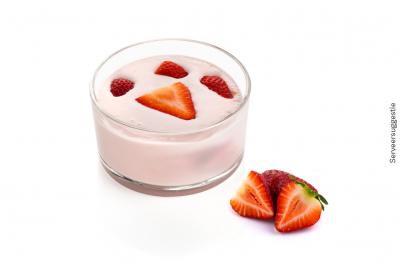 Aardbeien yoghurt