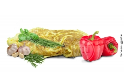 Proteïne omelet Mediterraans