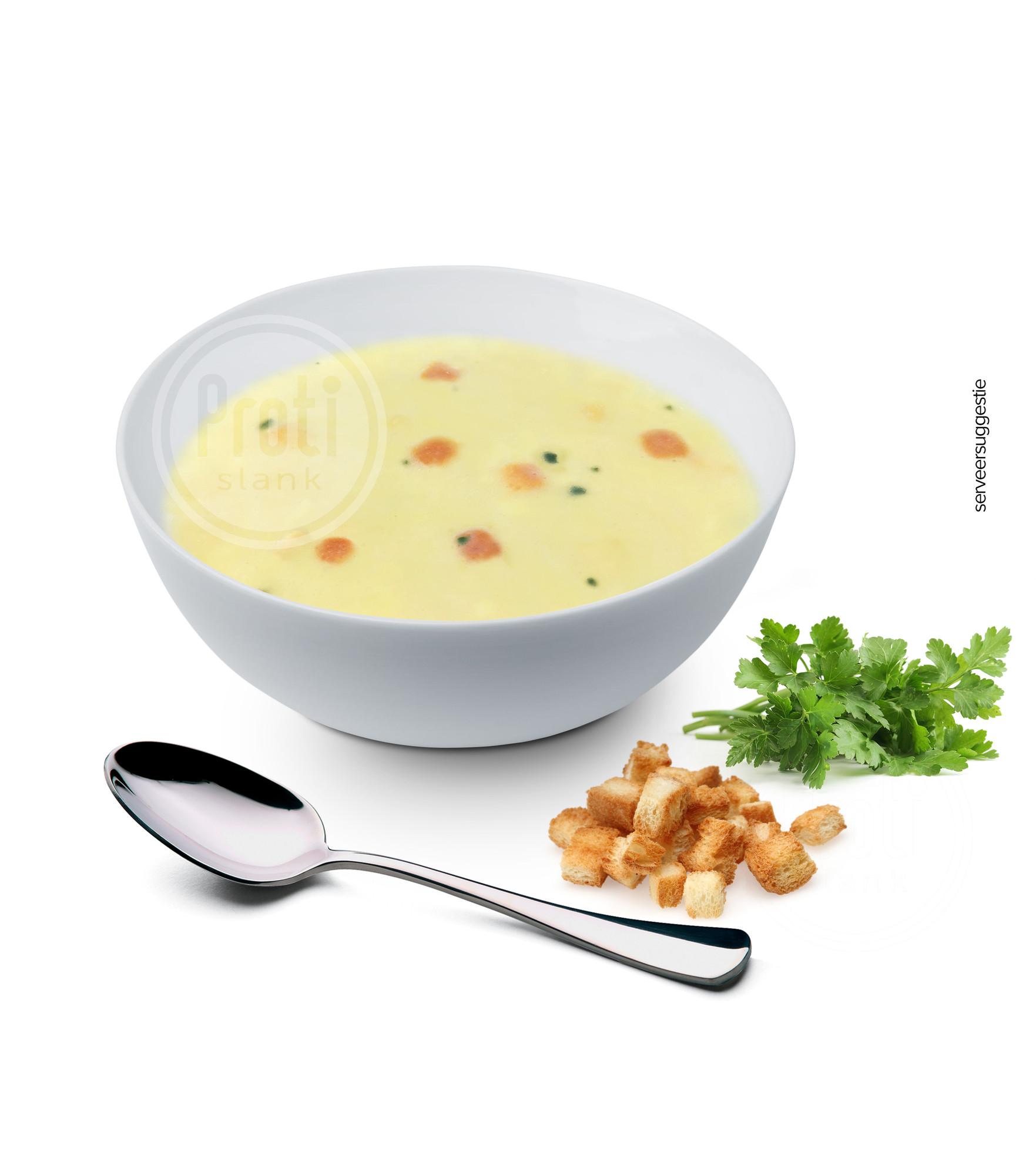 Proteïne soep Kipsmaak croutons