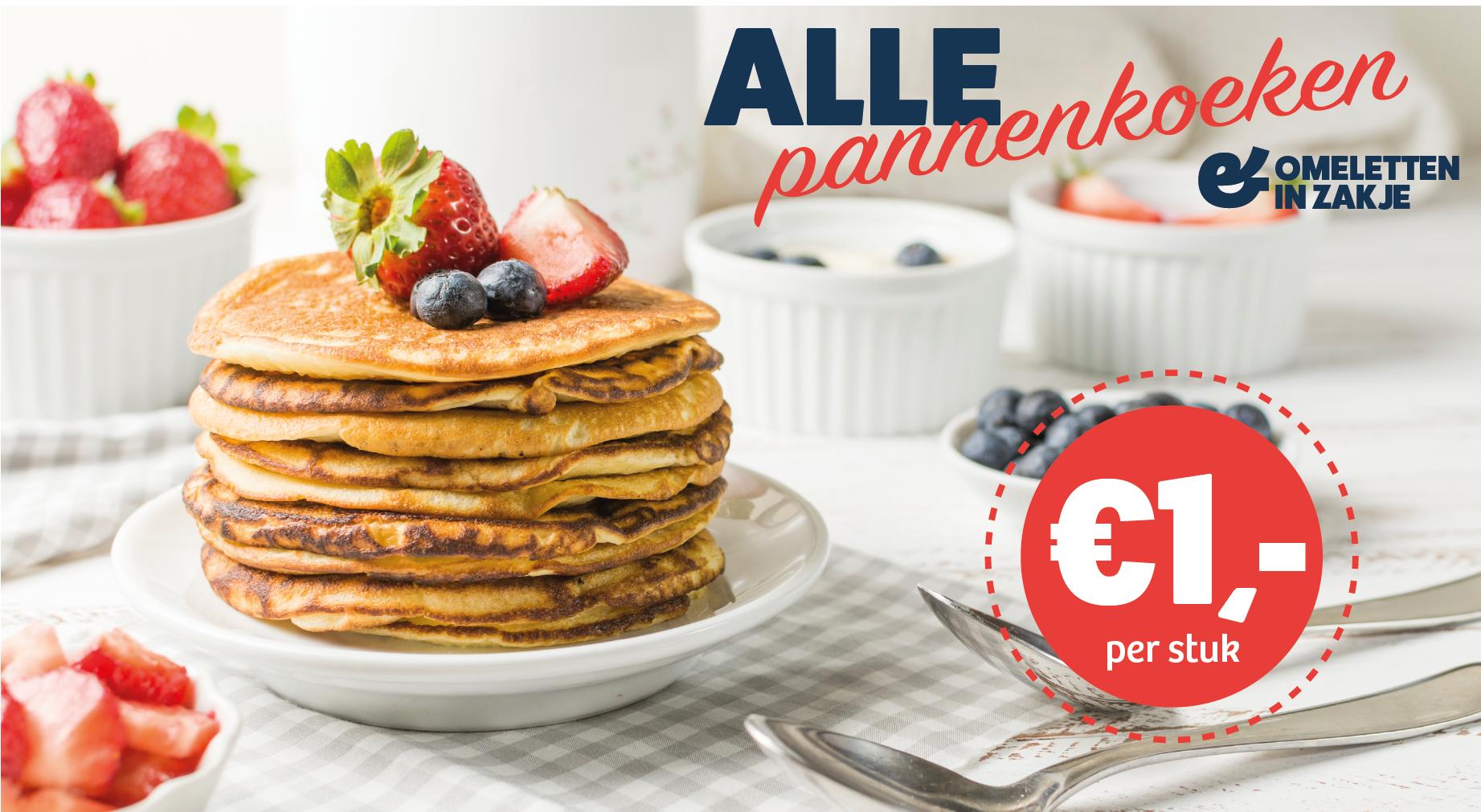 Omeletten en pannenkoeken voor €1,- per stuk