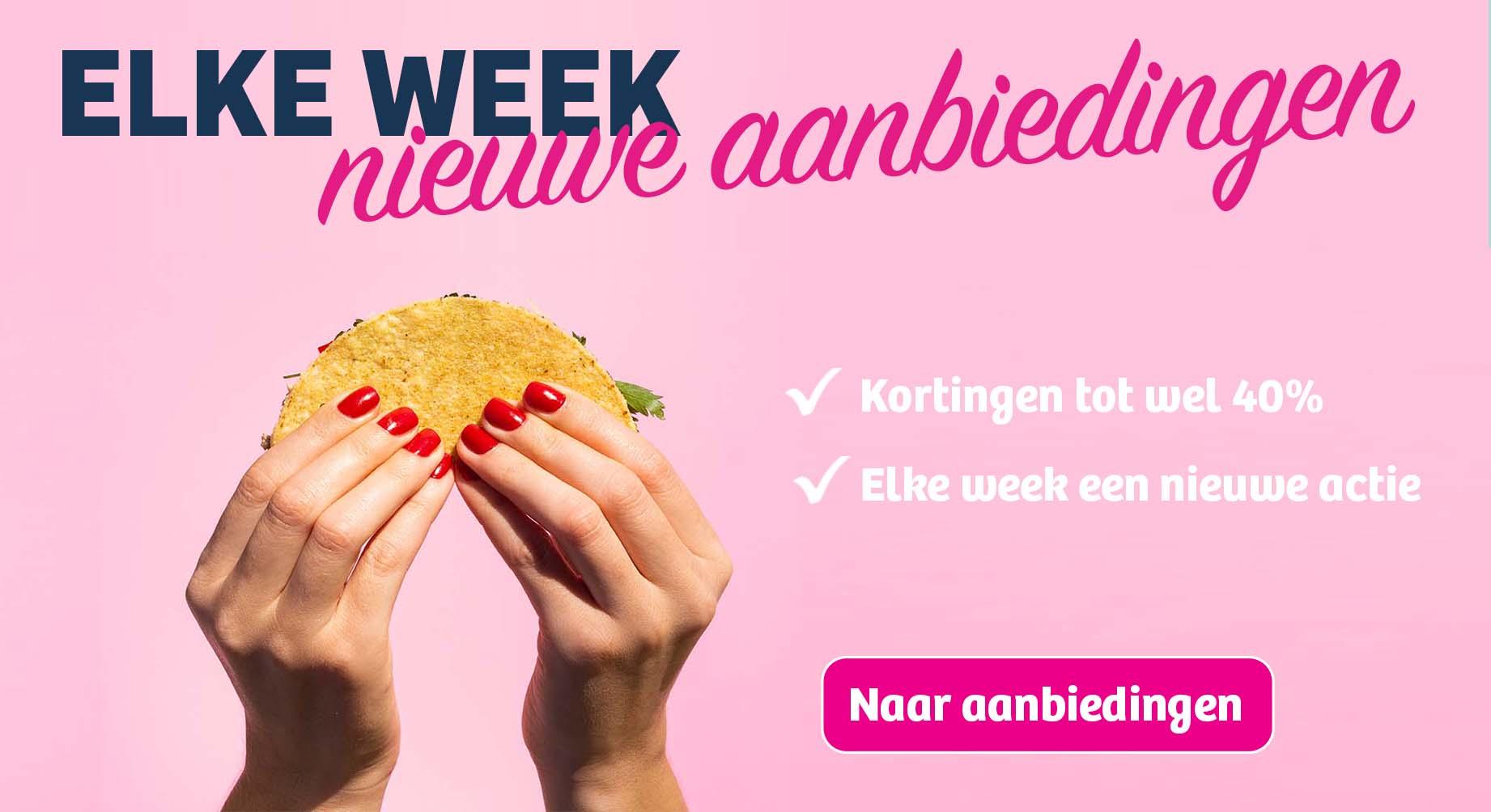 Elke week nieuwe aanbiedingen!