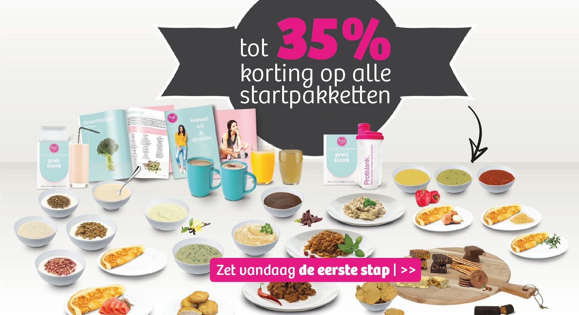 Startpakketten met een korting tot 35%!
