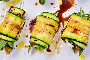 proteine dieet recept courgette rolletjes