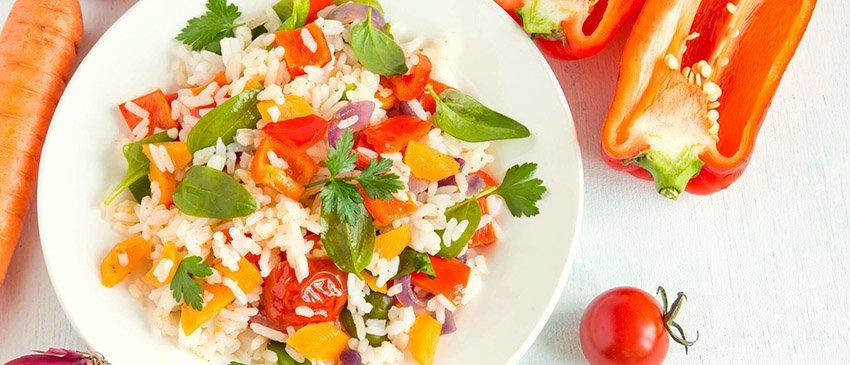 Recept rijst met groenten