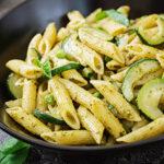 proteine dieet recept pesto pasta