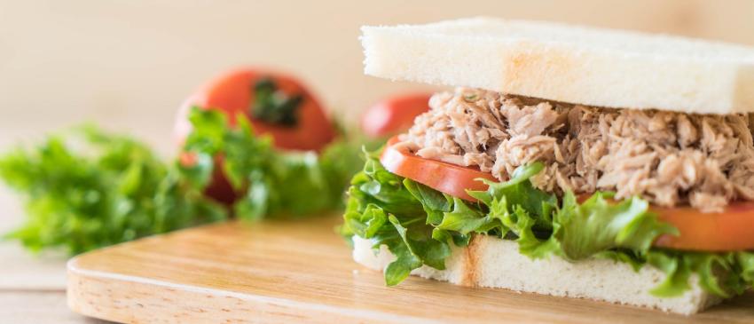 Gezonde, zelfgemaakte tonijnsalade